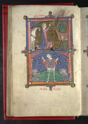 The Vision Of St. Eustace, And The Loss Of His Sons, In 'The Grandisson Psalter'